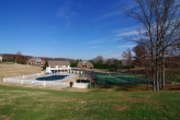 Avalon pool, tennis courts, and basketball goals