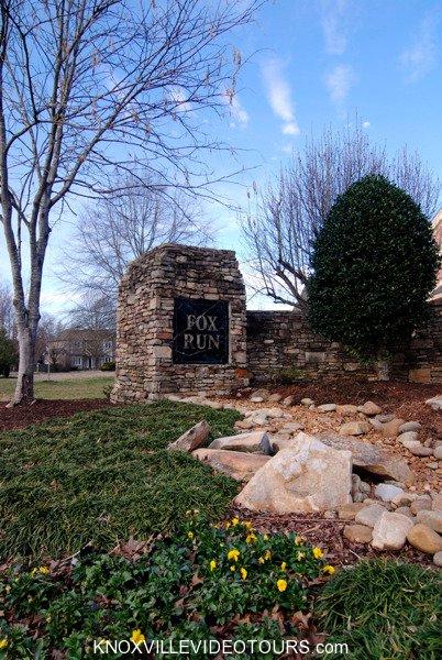 Fox Run Knoxville entrance sign