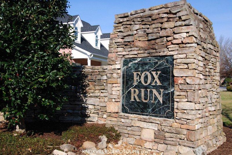 Fox Run Knoxville entrance sign close up