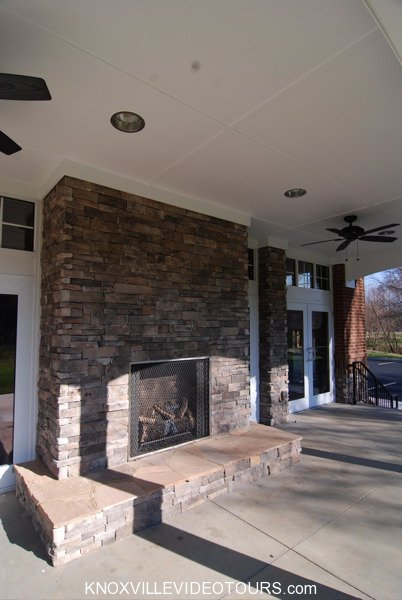 Fox Run Knoxville club house outside fireplace