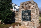 Fox Run Knoxville entrance sign close up