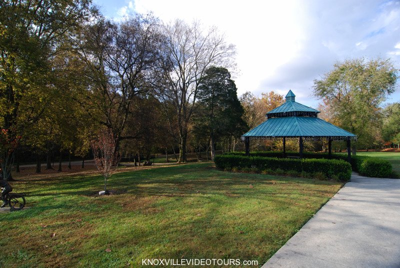 Gazebo at Campbell Station Park next to Village Green