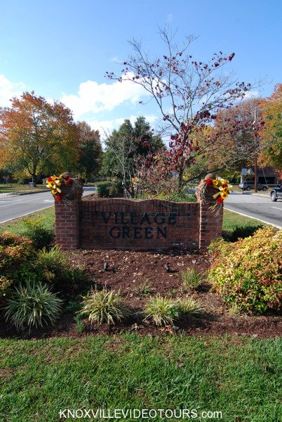 Village Green entrance at Campbell Station Rd in Farragut