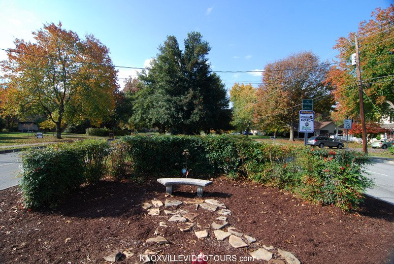 Village Green landscaping at Campbell Station Rd