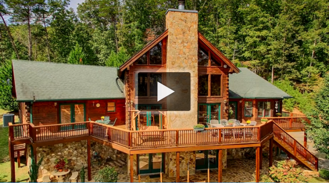Video: Beautiful Watts Bar Lake log cabin for sale at 207 Old Ridge Rd